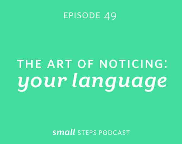 Small Steps Podcast #49: The Art of Noticing: Your Language from small-eats.com
