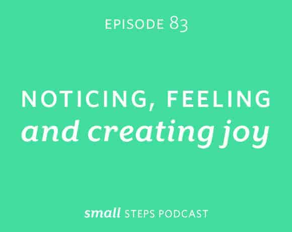 Small Steps Podcast #83: Noticing, Feeling and Creating Joy