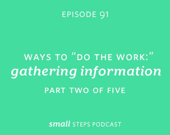 """Small Steps Podcast #91: Ways to """"Do the Work"""": Gathering Information"""
