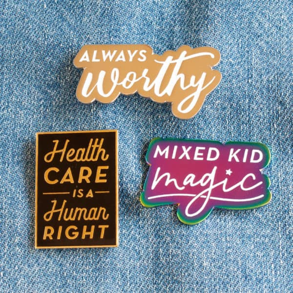 Mixed Kid Magic Enamel Pin